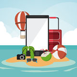 Vacations and summer design Royalty Free Stock Photos