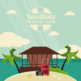 Vacations and summer design Stock Images