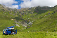Vacations in the summer Pyrenees Royalty Free Stock Image