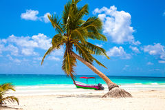 Vacations and tourism concept: Caribbean Paradise. Royalty Free Stock Image