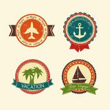 Vacations travel badges collection Stock Photo