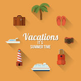 Vacations and travel design Royalty Free Stock Photo
