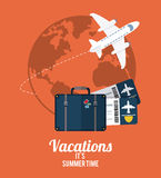Vacations and travel design Royalty Free Stock Image