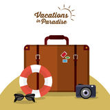 Vacations and travel design. Vacations concept with summer icons design, vector illustration 10 eps graphic Royalty Free Stock Photos