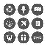 Vacations and travel design. Vacations concept with summer icons design, vector illustration 10 eps graphic Royalty Free Stock Photo