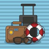 Vacations and travel. Elements cartoons vector illustration graphic design Royalty Free Stock Photo