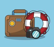 Vacations and travel. Elements cartoons vector illustration graphic design Royalty Free Stock Photography