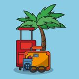 Vacations and travel. Elements cartoons vector illustration graphic design Royalty Free Stock Images