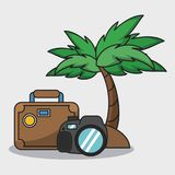 Vacations and travel. Elements cartoons vector illustration graphic design Royalty Free Stock Image