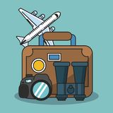 Vacations and travel. Elements cartoons vector illustration graphic design Stock Images