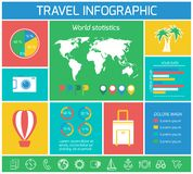 Vacations Travel Infographics Elements Royalty Free Stock Image