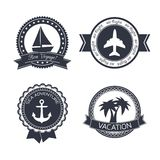 Vacations travel stickers set Stock Images