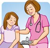 Vaccin contre la grippe pour des gosses Photographie stock libre de droits