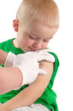 Vaccinating a child Stock Images