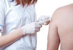 Vaccination av tålmodig royaltyfri bild