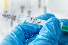 VACCINATION D'EBOLA Images stock