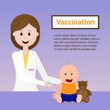 Vaccination de bébé Illustration de vecteur illustration libre de droits