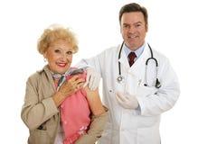 Vaccination de grippe Image libre de droits
