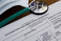 Vaccination Documentation Stock Photo