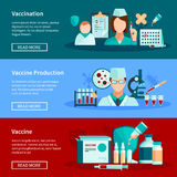 Vaccination Flat Banners Stock Photo
