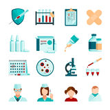 Vaccination Flat Icons Set stock illustration