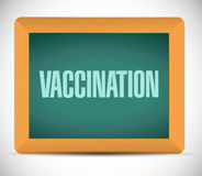 Vaccination message illustration design Stock Images