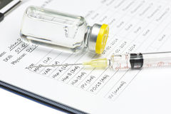 Vaccination Record Royalty Free Stock Images