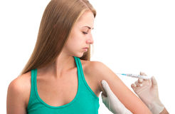 Vaccination shot Stock Image