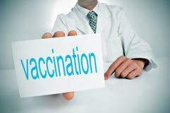 Vaccinazione immagini stock