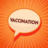 Vaccinazione del testo di scrittura di parola Concetto di affari per il trattamento che rende il corpo più forte contro il fumett illustrazione di stock