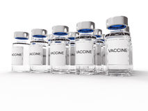 Vaccine  bottles on white Royalty Free Stock Photos