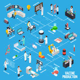 Vaccine Production Infographics Layout stock illustration