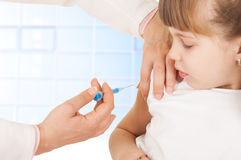 Vaccine syringe Stock Photography