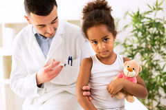 Vaccine to prevent. Healthy concept stock photos