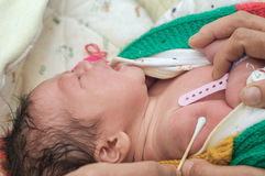 Vaccinering för newborns Fotografering för Bildbyråer