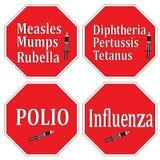 Vaccineringtecken Royaltyfri Bild