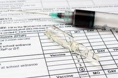 Vaccino Fotografia Stock
