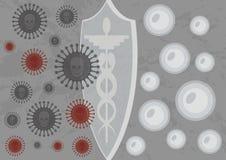 Vaccino che protegge un organismo delle cellule immagine stock libera da diritti