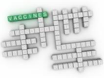 vaccino di imagen 3d, concetto della nuvola di parola Fotografia Stock