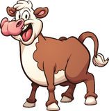 Vache à dessin animé Image libre de droits