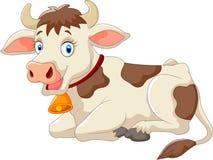 vache à dessin animé heureuse Photos libres de droits