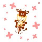 Vache faisant le milkshake Photographie stock