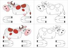 Vache à jouet faite de papier Photographie stock libre de droits