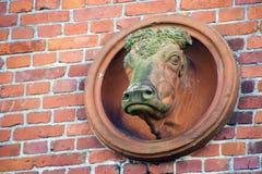 Vache à mur image libre de droits