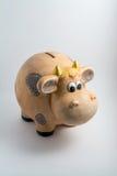 Vache à pièce de monnaie images libres de droits