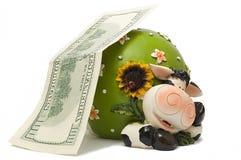 vache à pièce de monnaie de cadre Image libre de droits