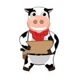 Vache à Smilling Images libres de droits