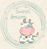 Vache à sommeil de vecteur Photo libre de droits