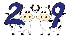 Vache 2009 illustration de vecteur