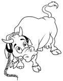 Vache avec des écouteurs Image stock